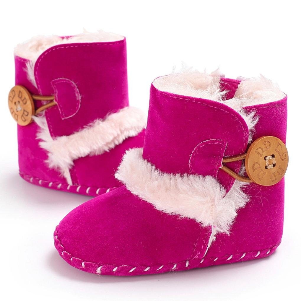 Baby First Walking Snow Shoes,For 0~18 Month Kids,Princer Baby Girl Fashion Cute Warm Soft Sole Snow Boots