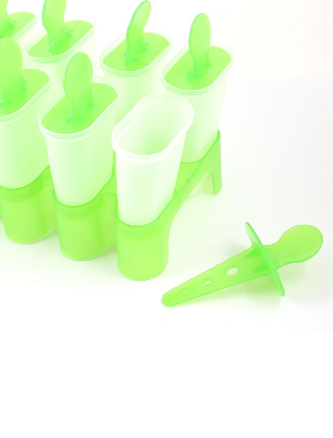 Amazon.com: eDealMax 8 compartimentos de plástico bricolaje helado de paleta molde de la bandeja Verde Claro: Kitchen & Dining