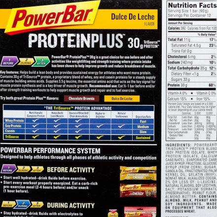 Amazon.com : Powerbar ProteinPlus 30 Gram Bar - 12 Bars Dulce De Leche, 12 bars : Nutrition Bars : Grocery & Gourmet Food