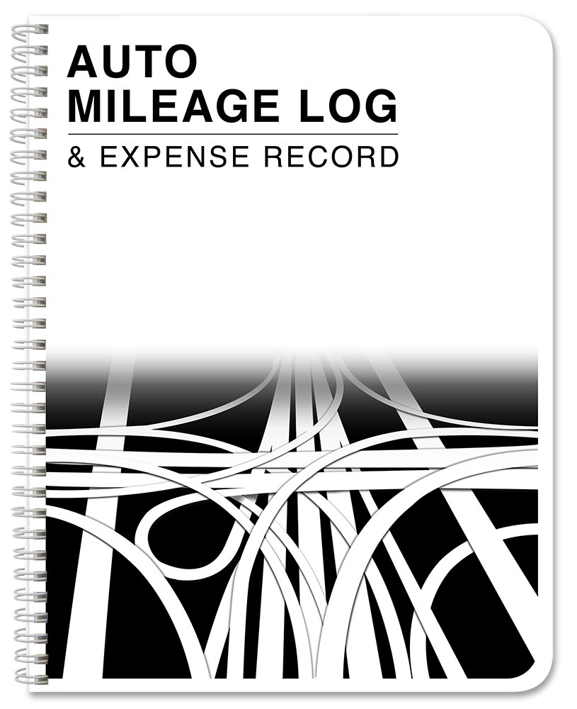 "BookFactory Auto Mileage Log Book/Automobile Expense Record Notebook - 124 Pages - 8.5"" X 11"" Wire-O (LOG-126-7CW-A(MILEAGE))"