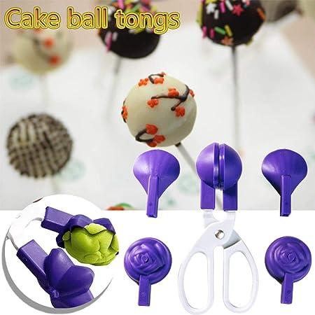 Pâtisserie gâteau maison Clip Décoration Moule Blanc Violet outils 10 en 1