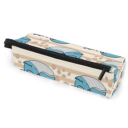 Estuche portátil para gafas con diseño de ballena azul colorida, caja suave para mujeres y niñas, con cremallera, bolsa de almacenamiento: Amazon.es: Oficina y papelería