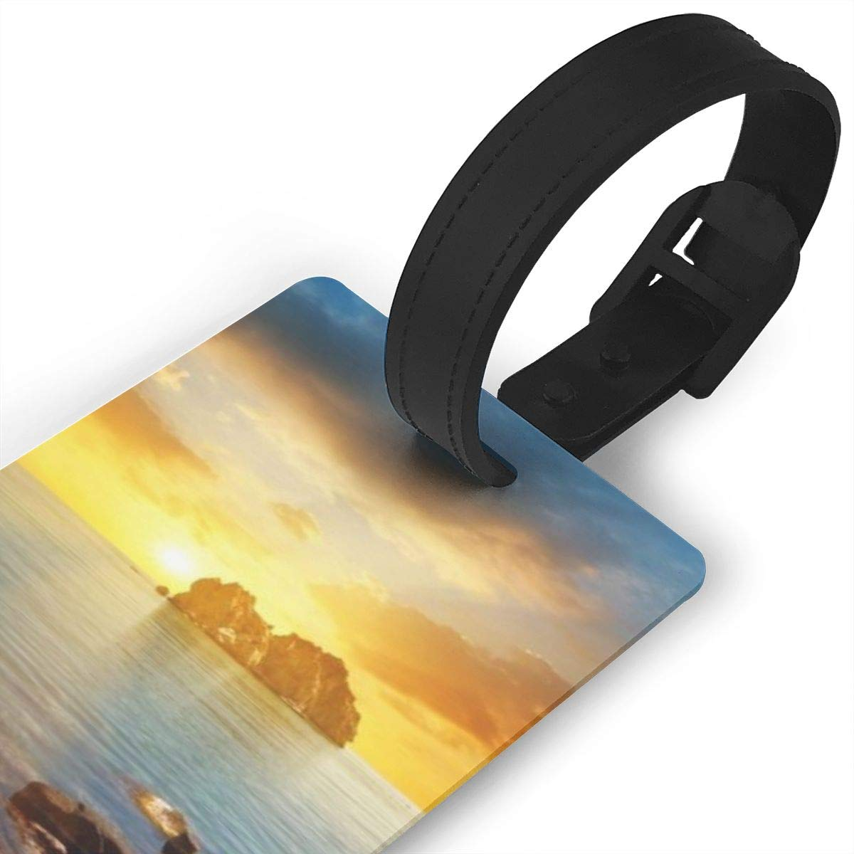 Dawn On The Sea Luggage Tags Bag Travel Labels For Baggage Suitcase