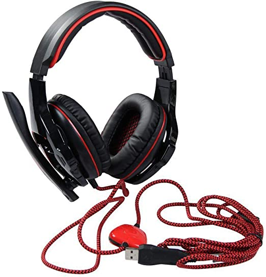 Red RSLG SADES SA-903 Game Earphone Headset 7.1 Sound Card Computer Headset with Mail