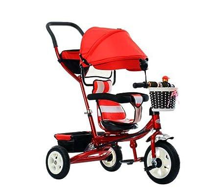 Carrito de bebé Triciclo Bicicleta de Carro de bebé Bicicleta de Rueda Inflable 3 Ruedas,
