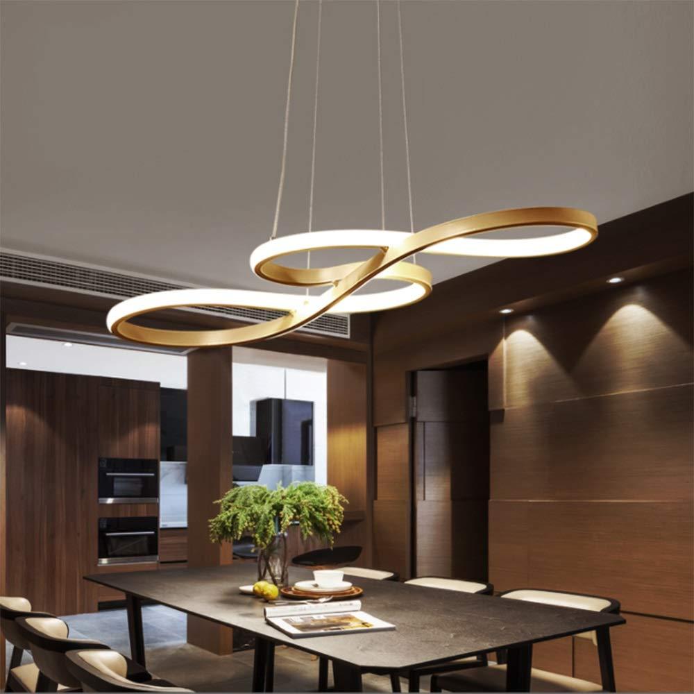 LED Pendelleuchte Esstisch Esstisch Esstisch Hängelampe Dimmbar Deckenlampe Modern Deckenleuchte Höhenverstellbar Hängeleuchte Pendellampe Esszimmer Gold Kronleuchter mit den Fernbedienung für Schlafzimmerleuchte d6f4cc