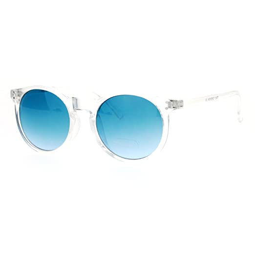 3f7b0e76c411d Amazon.com  Clear Frame Sunglasses Round Keyhole Retro Fashion Blue ...