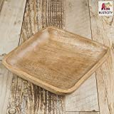 Rusticity Wooden Serving Platter / Serving Plate / Serving Tray - Small | Handmade | (8x8 in)