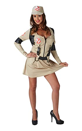 rubies official ghostbusters ladies fancy dress halloween 1980s womens adult 80s costume outfit uk
