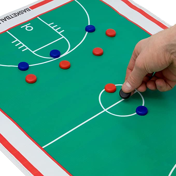 Full & Half Field View Sides 24 Magnets Crown Sporting Goods 23.75 x 16.75 Premium Magnetic Soccer Coaches Strategy & Tactic Board Double Sided Roll-Up Play Calling Clipboard