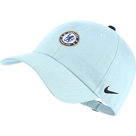 5dc589cb2 Amazon.com : NIKE 18/19 Chelsea H86 Core Adjustable Hat Glacier Blue ...