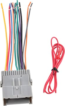 Amazon.com: RED WOLF for Buick CX Cadillac Escalade Pontiac Isuzu 2000-2010  Stereo Radio Wire Harness Adapter Factory Head Unit Replacement Power Plug:  Automotive   Wolf Wiring Harness      Amazon.com