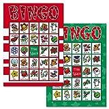 Santa Bingo Game - 18 Holiday Bingo Cards
