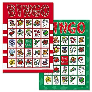 santa bingo game 18 holiday bingo cards