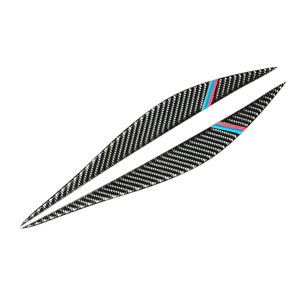 Fodera in fibra di carbonio Copertura per sopracciglia Decorazione Styling Sticker Faro anteriore Palpebre Trim Adesivi per sopracciglia