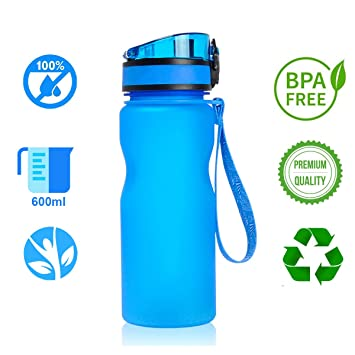 Botella Agua Deporte sin BPA 21oz/600ml | Botella Agua Niños sin Bpa Infantil |
