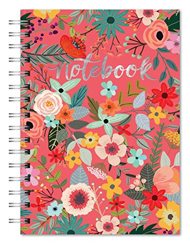 Studio Oh! 82471 Hardcover Spiral Notebook Available in 9 Different Designs, Secret Garden ()