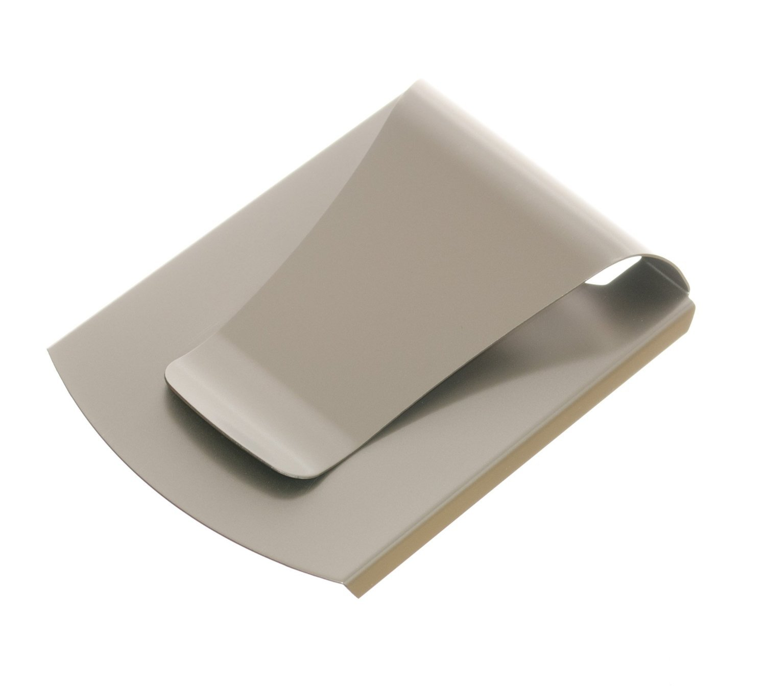 Storus Smart Money Clip-Double Sided Money Clip-Stores Cards on One Side and Cash on The Other Side-Stainless Steel with Titanium Finish (1 Piece per Package) Patented