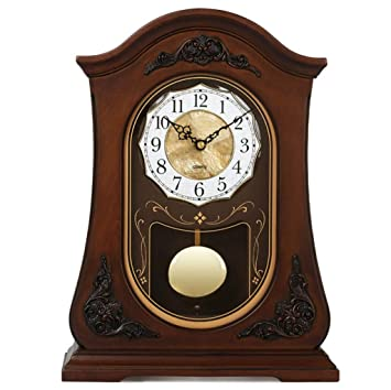 Relojes de mesa para la Sala de Estar Decoración Habitaciones Vintage Retro Reloj de Escritorio Europeo Funciona con batería Analógico Sin tictac Silencio ...