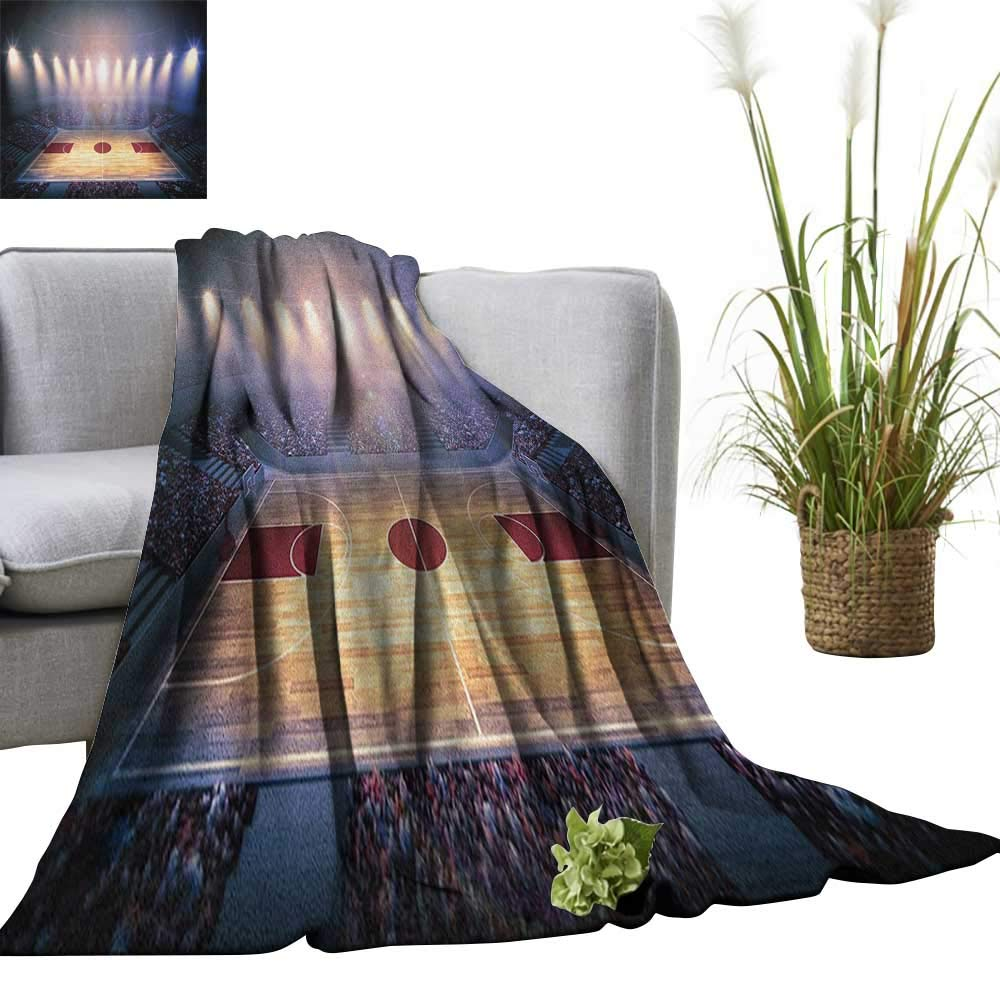 """Full-blown flowers Basketball Super Soft Lightweight Blanket Crowded Basketball Arena Just Before Game Starts School Tournament Theme 30""""x50"""",Super Soft and Comfortable,Suitable for Sofas,Chairs,beds"""