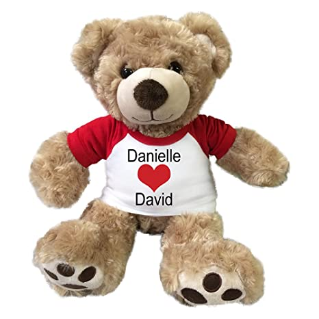 Image Unavailable. Image not available for. Color: Personalized Valentine Teddy Bear ...
