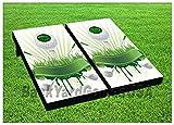 Cornhole Beanbag Toss Game W Bags Game Board Golf Tee Club Green Sports Set 682