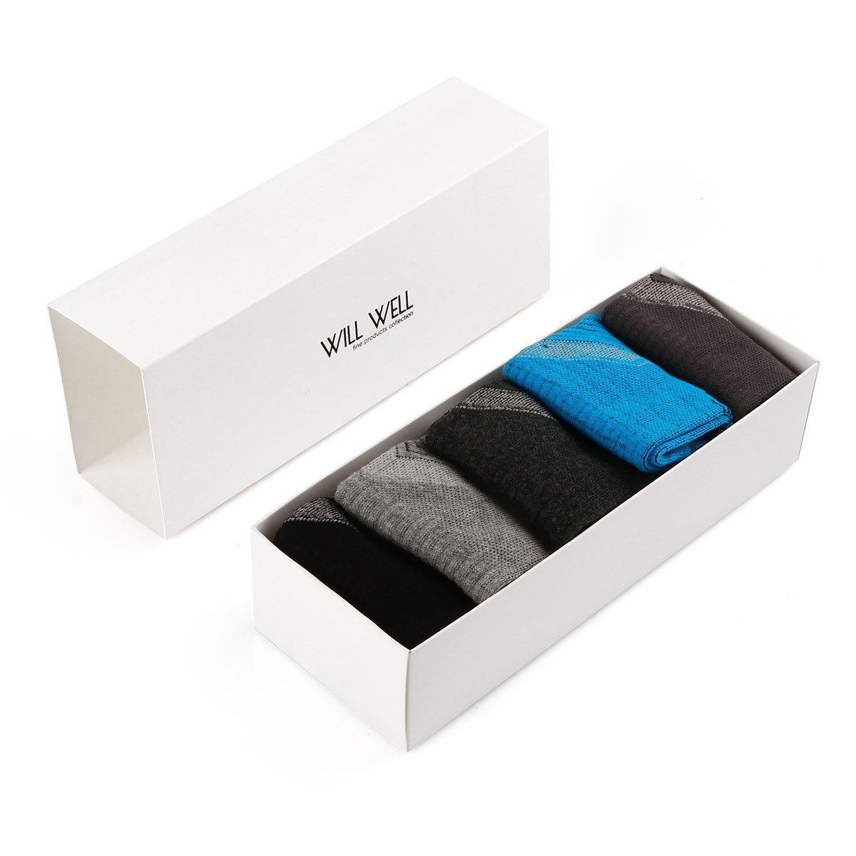 Will Well 5 Pack Mens Hiking Socks, Micro Crew Half Thickness Cushion Running Sports Performance Summer by Will Well (Image #7)