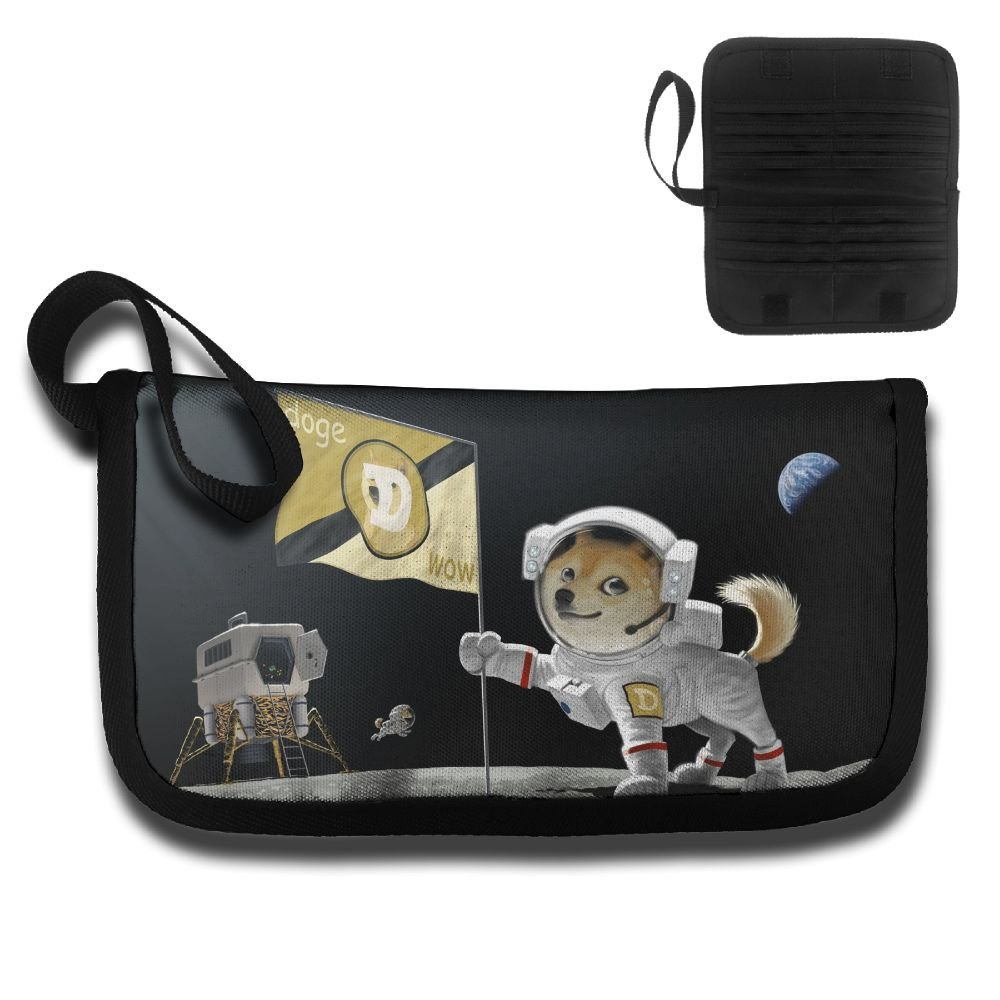 Gili Dog Astronaut Travel Passport /& Document Organizer Zipper Case