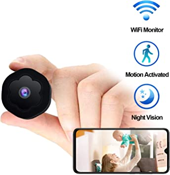 Hidden Camera Baby Camera with Activity Detection Alert 1080P HD Wide-Angle Lens Home Security Camera Wireless Nanny Cam Remote Monitor with Cell Phone App Mini USB Hidden Camera WiFi