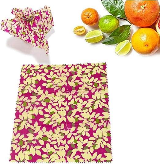 Womdee Beeswax Wrap, Food Wraps Alternativa a la Envoltura de ...