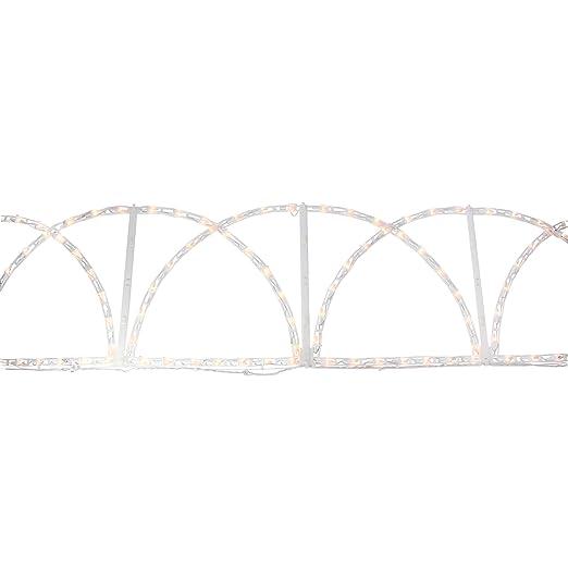 8 pies camino de Navidad iluminado de color blanco valla césped ...