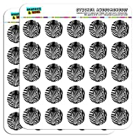 "Zebra Face Safari Print Stripes 1"" Planner Calendar Scrapbooking Crafting Stickers"