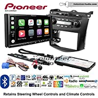 Volunteer Audio Pioneer AVH-2440NEX Double Din Radio Install Kit with Apple CarPlay, Android Auto and Bluetooth Fits 2003-2007 Honda Accord (Factory climate controls)