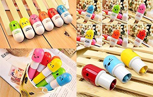 Hot Sale 20pcs/lot, Ballpoint Pen, Vitamin Pill, Novelty Pen, Size12x2.4cm, Gift Pen,multicolor Color: NO.2 Model: Office Supply Product Store