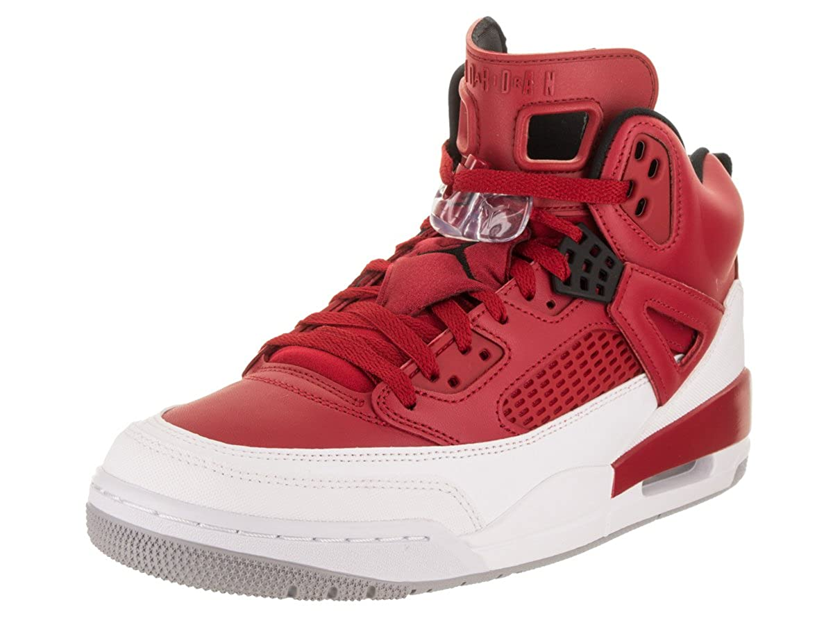 info for 4cf14 7fc6a Jordan Nike Men's Spizike Gym Red/Black White Wolf Grey Basketball Shoe 12  Men US