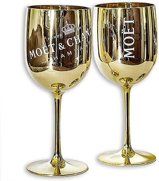 Moet /& Chandon Gold Ice Imperial Acrylic Champagne Glasses