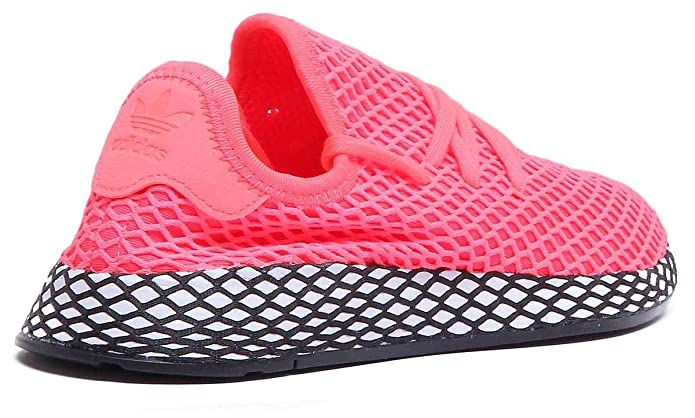 check out f8722 6c9df Amazon.com  adidas Originals Deerupt Run Trainers in Coral (UK 3, Coral)   Shoes