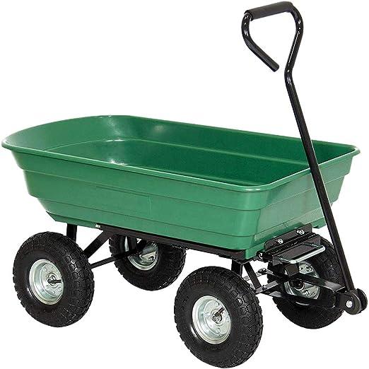 Hengmei – Carretilla de jardín, carro de jardín, función de inclinación, carro de transporte, Modell A, M: Amazon.es: Jardín