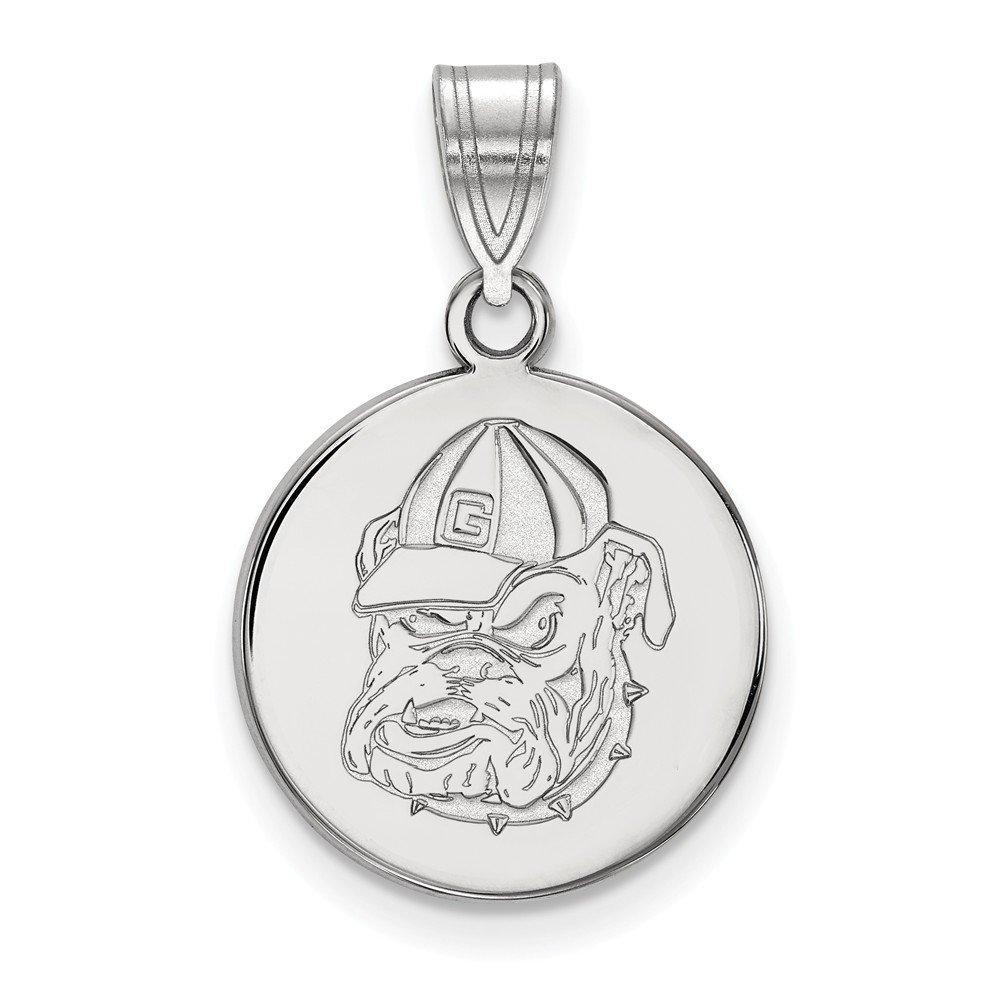 Jewel Tie 925 Sterling Silver University of Georgia Medium Pendant