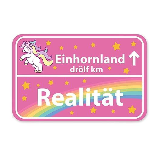 Cartel de unicornio muy dulce con texto en alemán