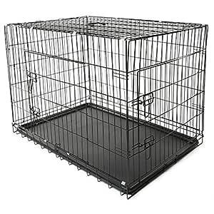 TRESKO® Jaula de Transporte Plegable para Perros (XL 105 x 71 x 78 ...