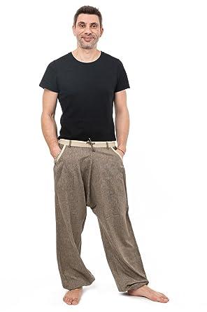 50% de réduction grande remise magasiner pour véritable FANTAZIA Pantalon Fluide Homme Desert Cool - Taille Unique - 100% Coton -  Blanc/écru - Baba Cool Roots - Confortable & Original - Créé en France, ...