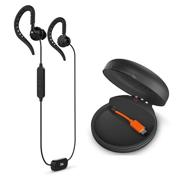 374cd7adff1 Amazon.com: JBL Focus 700 In-Ear Wireless Sport Headphones Charging Case -  Black: Cell Phones & Accessories
