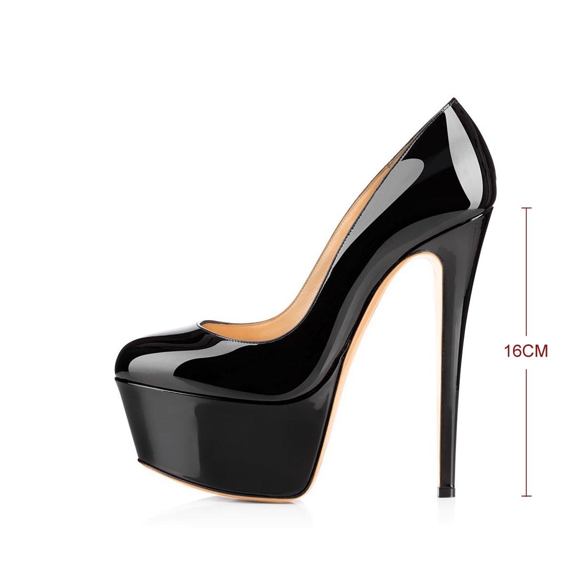 b7b7f1c5a9 Amazon.com   Joogo Women Round Toe Platform Pumps Stiletto High Heels Dress  Shoes   Pumps