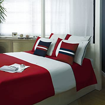 Tommy Hilfiger Bettwäsche Colour Block Red 135x200 Cm 80x80 Cm