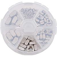 INCREWAY Kit d'écrous carrés en acier inoxydable argenté