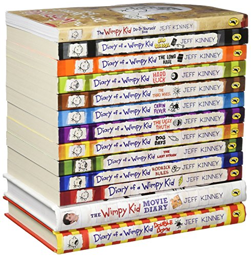 Diary of a Wimpy Kid Collection 13 Books Set (Double Down, Old School, Hard Luck,Third Wheel, Cabin fever, The Ugly Truth, Dog Days, Do-It-Yourself Book, Diary of A Wimpy Kid,Rodrick Rules..