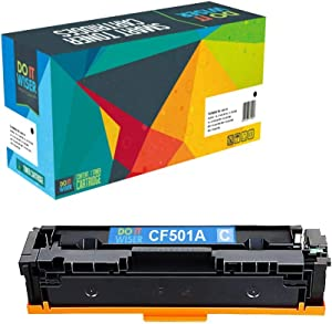 Do it Wiser Compatible Toner Cartridge Replacement for HP 202A CF501A for use in HP Laserjet Pro M281fdw M281cdw M254dw M254nw M254 M280 M281 (Cyan)