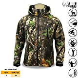 KwikSafety HUNTSMAN | Camouflage Hunting Jacket | All Year Outdoor Recreational Wear | Water Resistant Quick Dry Long Sleeve Soft Shell Hoodie | Men Women Fishing Shooting Camo Gear | 2X-Large
