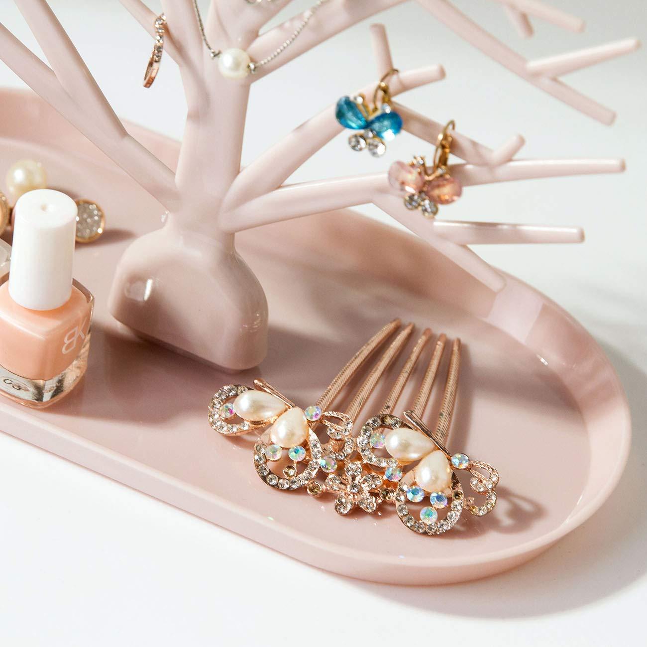 Supporto per anello per orecchini Organizzatore di gioielli Cremagliera Albero di gioielli Espositore Collana Appeso Organizzatore Bracciale Cremagliera Espositore a torre